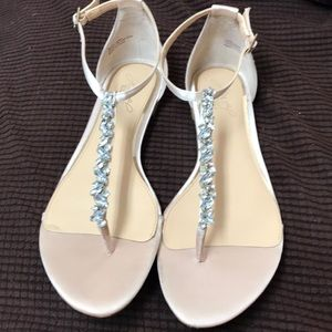 Badgley Mischka jewel sandal mint condition